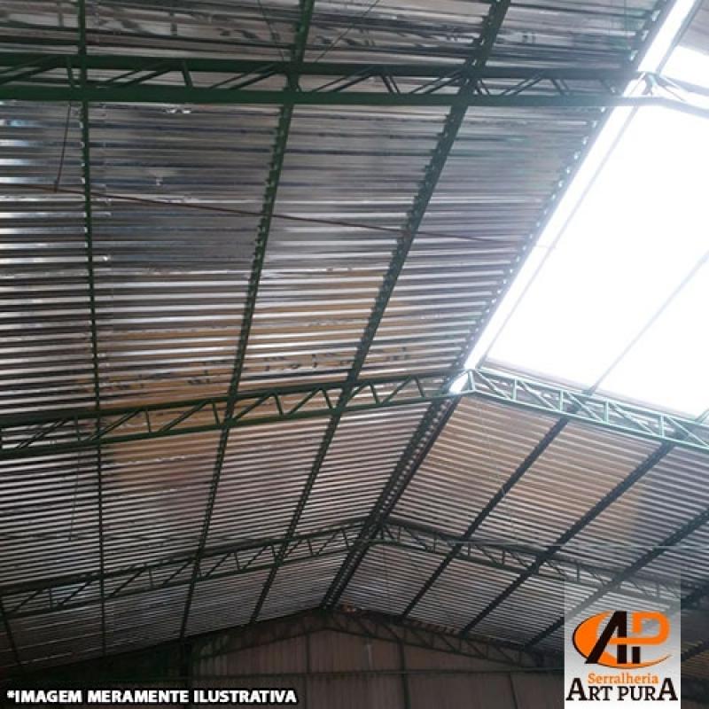 Cobertura Estrutura Galpão Carapicuíba - Cobertura de Galpão Industrial Metálico