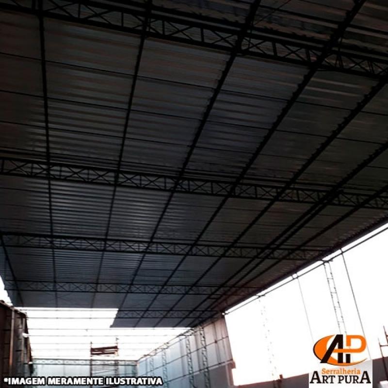 Cobertura para Galpão Industrial Carapicuíba - Galpão Cobertura Metálica