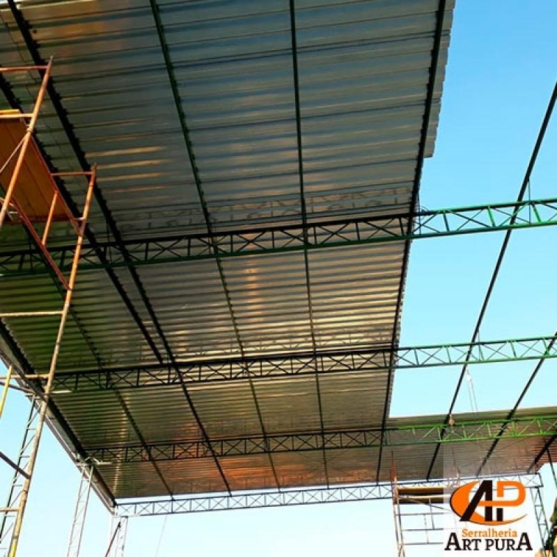 Companhia de Estrutura Metálica Cobertura GRANJA VIANA - Estrutura Metálica de Mezanino