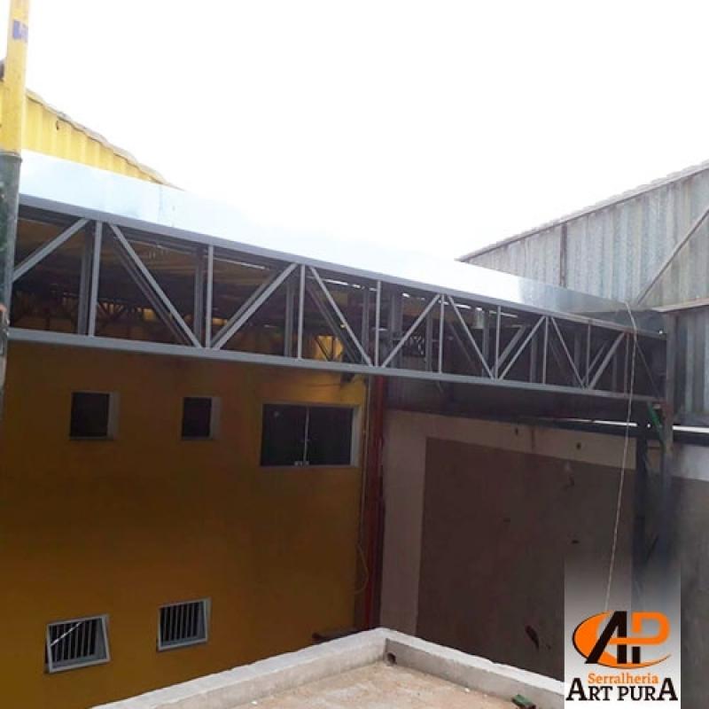 Companhia de Estrutura Metálica Residencial Jandira - Estrutura Metálica de Mezanino