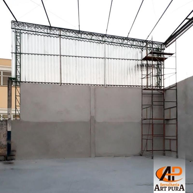 Estrutura Metálica Cobertura Osasco - Estrutura Metálica de Mezanino