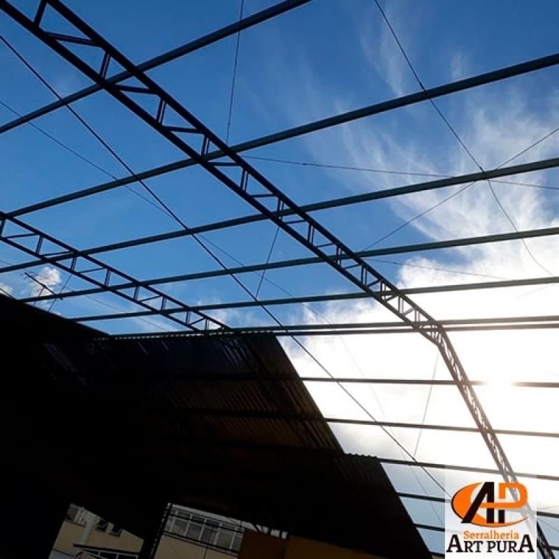Estrutura Metálica Residencial Jandira - Estrutura Metálica de Mezanino