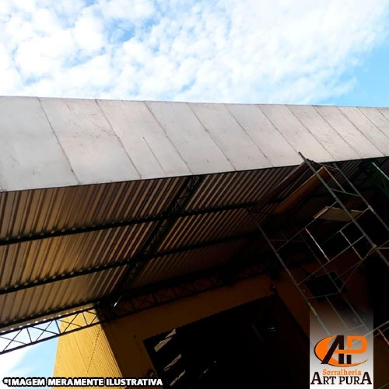 Onde Encontro Cobertura Estrutura Galpão Santana de Parnaíba - Galpão Cobertura Metálica