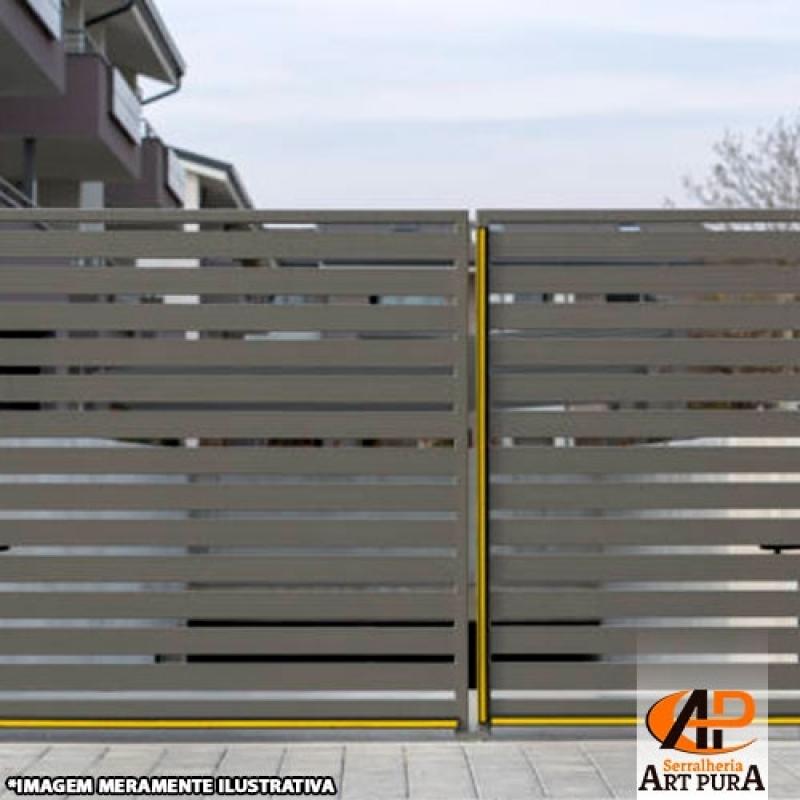 Portão de Ferro Modernos Preço GRANJA VIANA - Portão de Ferro Simples