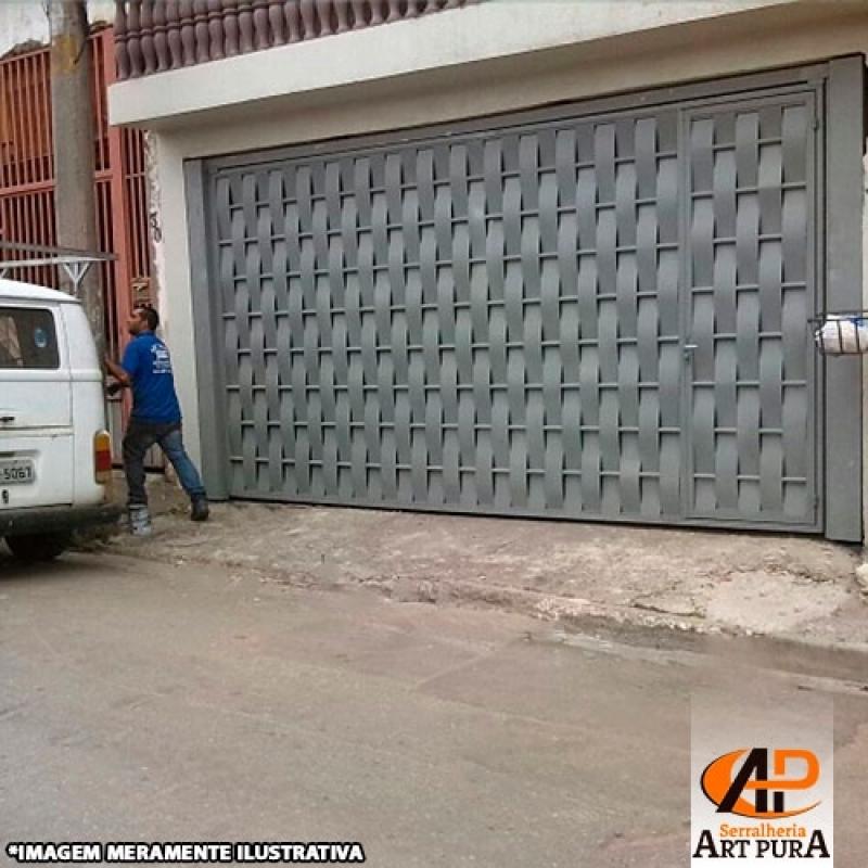 Portão de Ferro para Garagem Preço Barueri - Portão em Ferro Galvanizado