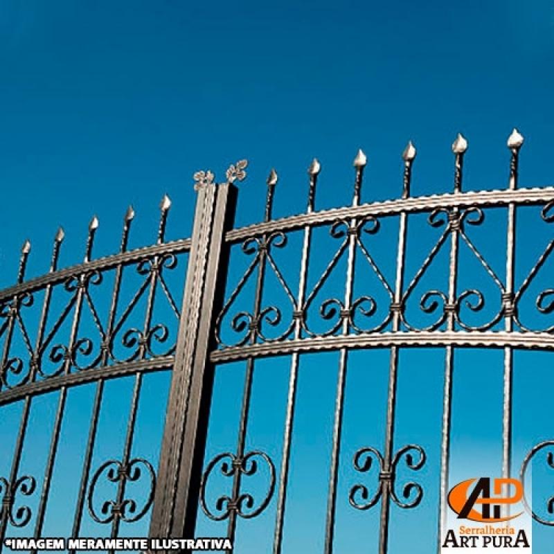 Portão em Ferro Forjado Preço Santana de Parnaíba - Portão em Ferro Fundido