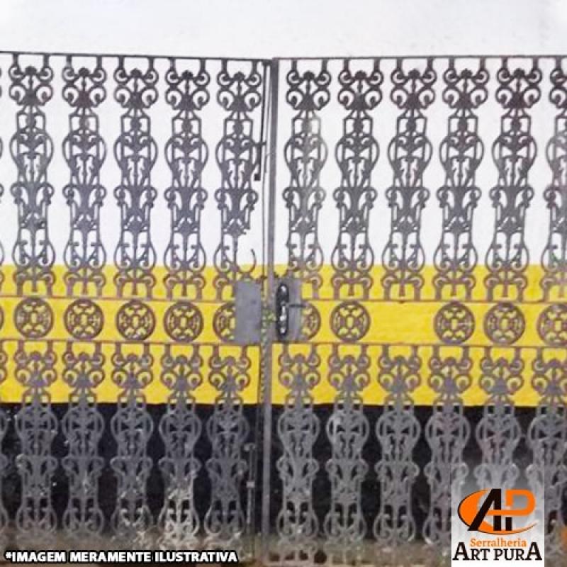 Portões em Ferro Forjado Santana de Parnaíba - Portão em Ferro Forjado