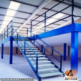 companhia de estrutura metálica de mezanino Cotia