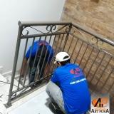empresa de guarda corpo de ferro galvanizado GRANJA VIANA