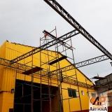 estrutura metálica telhado orçar GRANJA VIANA