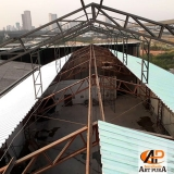 estrutura metálica telhado Jandira