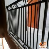 guarda corpo ferro galvanizado valor Carapicuíba