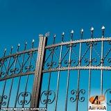 portão de ferro simples
